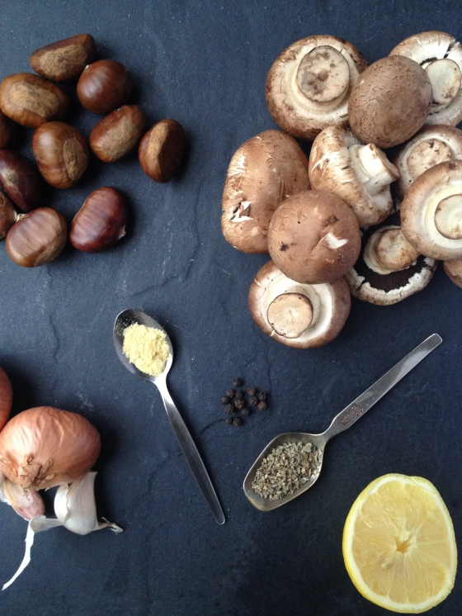 mushroom and chestnut pate