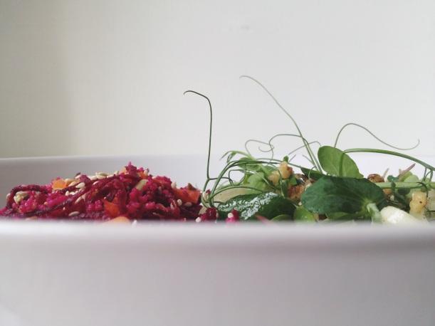 peashoot salad