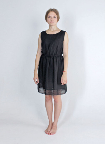 Here today here tomorrow linen dress