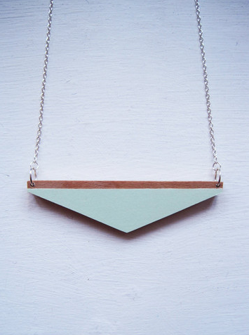 Here today here tomorrow wooden necklace