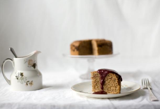 Sloe-spelt-cake