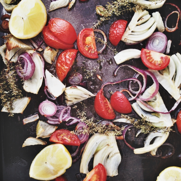 Roasted fennel and vegetables