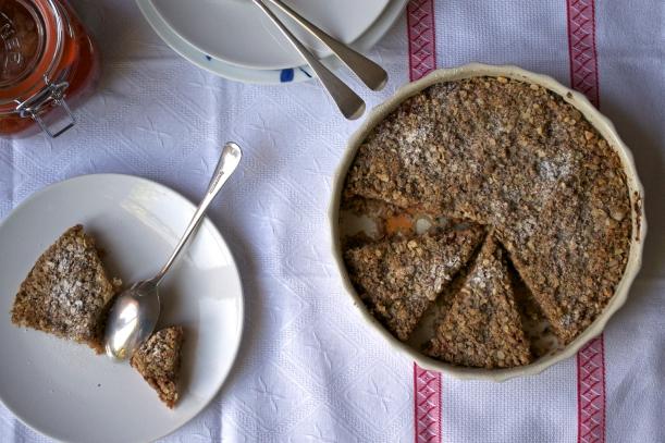 Vegan plum tart