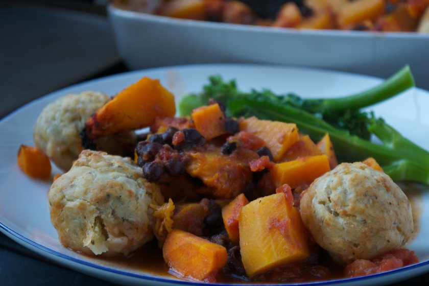 Squash Stew & Dumplings
