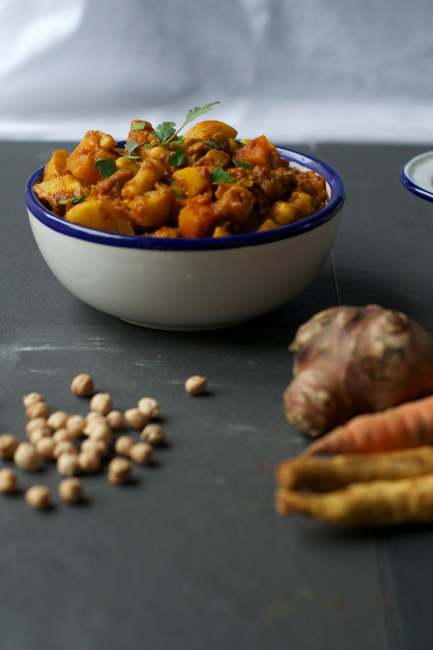 Root vegetable tagine