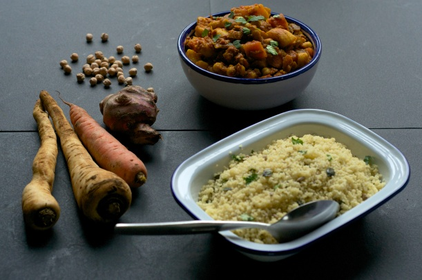 Winter root veg tagine