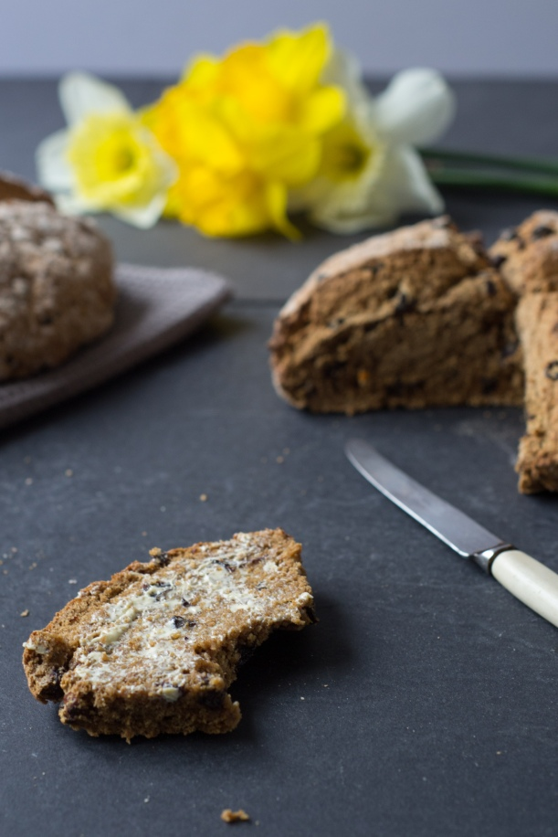 Hot cross soda bread